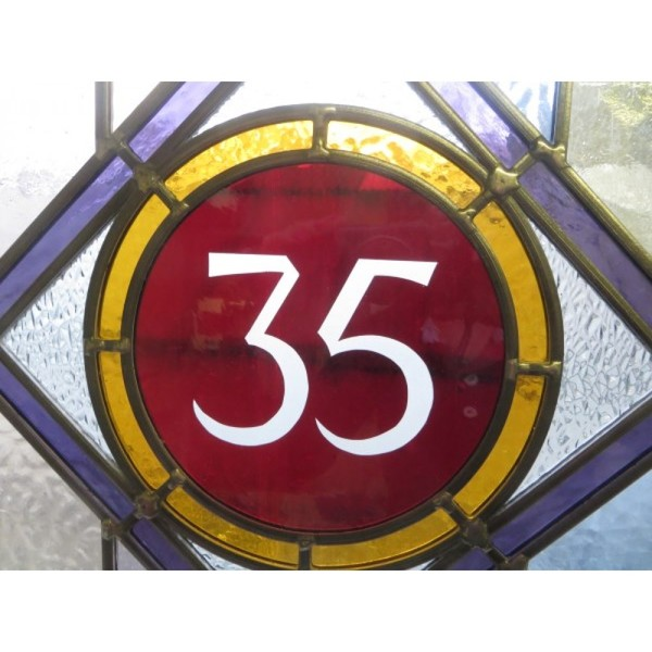 No 35 Edwardian door glass