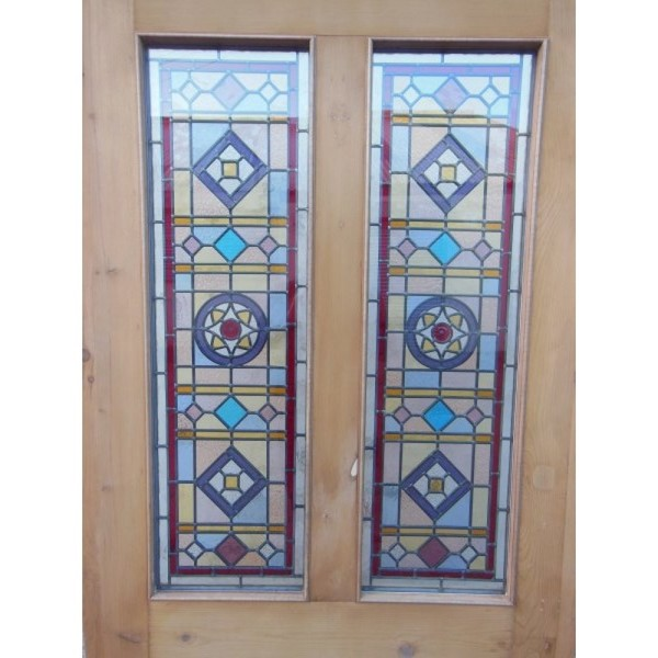 nouveau design leaded stained glass