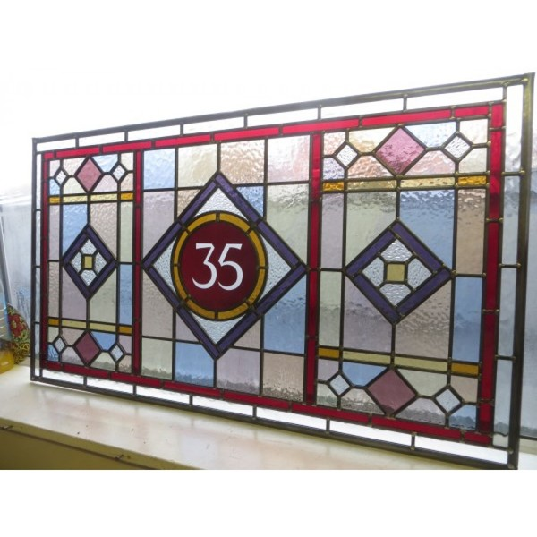 Reclaimed leaded glass