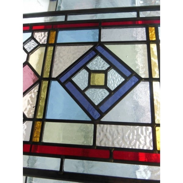 vertical tulip stained glass