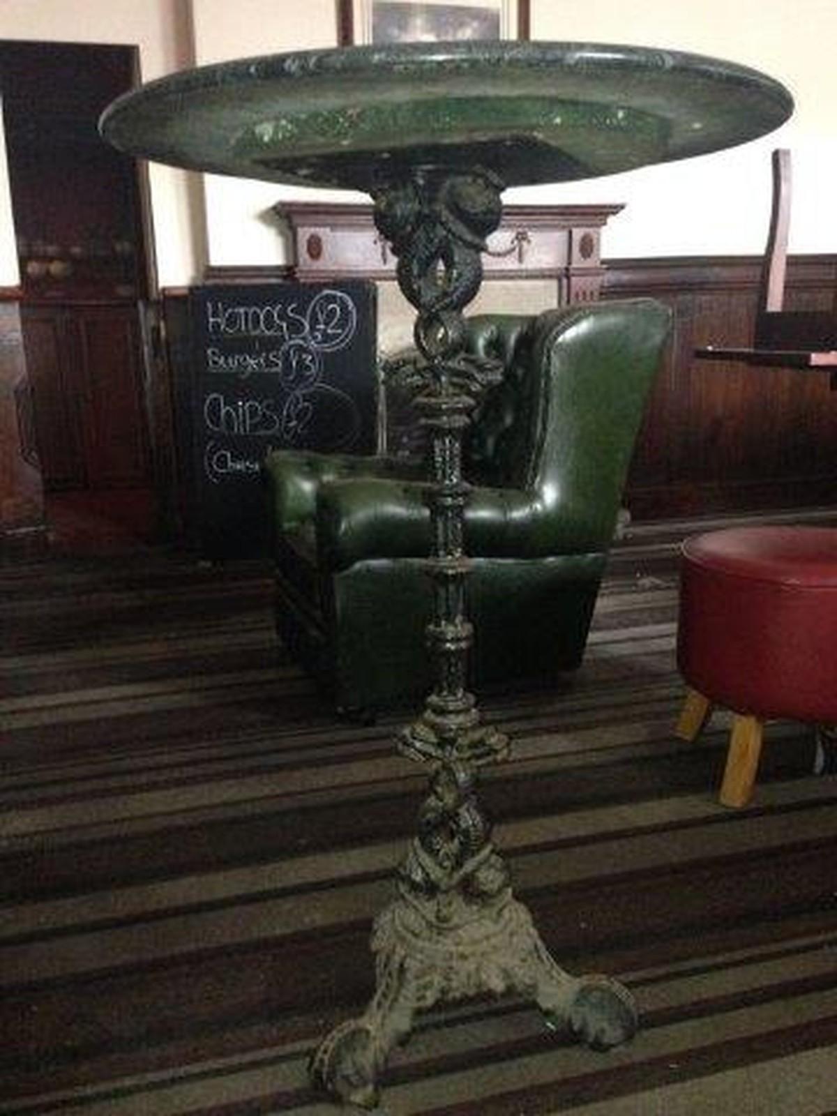 Secondhand pub equipment tables round vintage