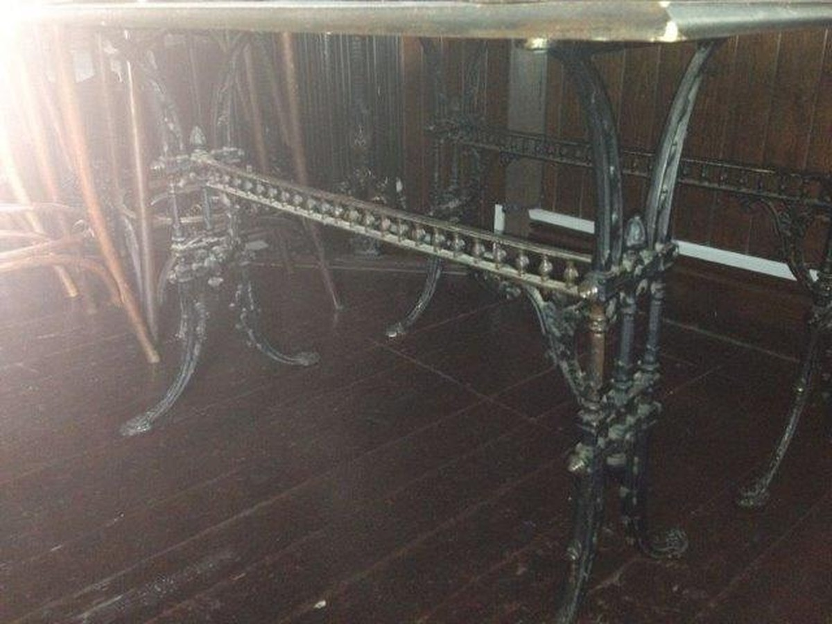 ... Rectangular Vintage Cast Iron Table Bases And Tops For Sale ...