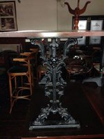 Reclaimed Rectangular Vintage Cast Iron Table Bases and Tops