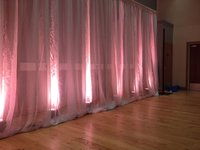 White Voile Pleated Drapes for sale