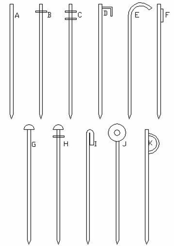 Types of marquee pegs for sale