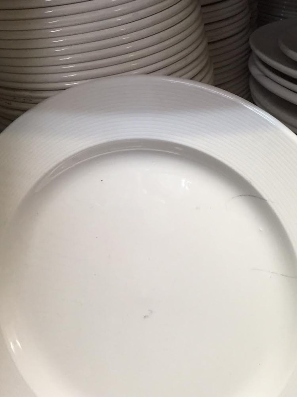 Eclipse dudson seconds crockery with slight embossed edge