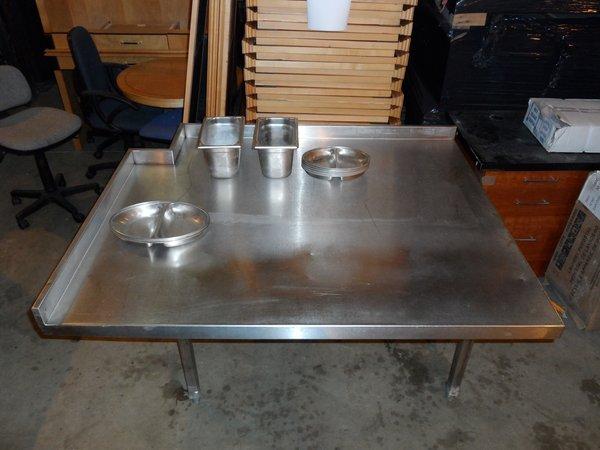 Very deep prep table