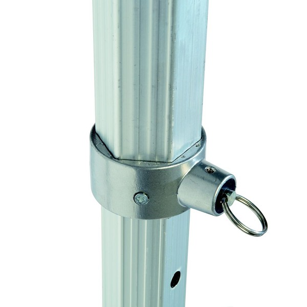Gazebo stage system adjustable leg pin