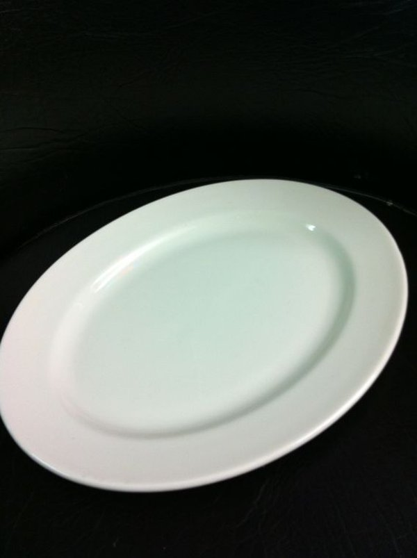 "150 x New Dudson 11.1/4"" Oval Plates Seconds"