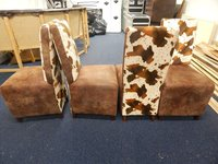 Bespoke Cowhide dining chairs