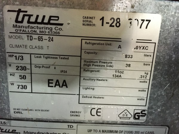 TD-65-24 dump fridge