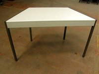 Trapezoidal Conference/School Table with Dark Legs