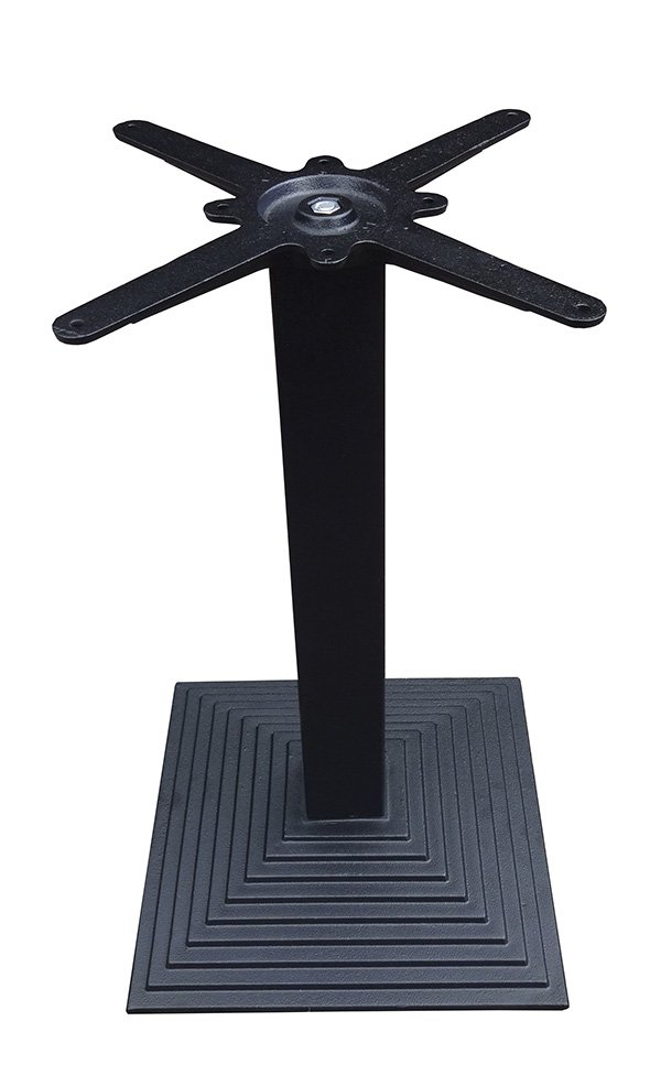 Sturdy cast Iron table base with step square design
