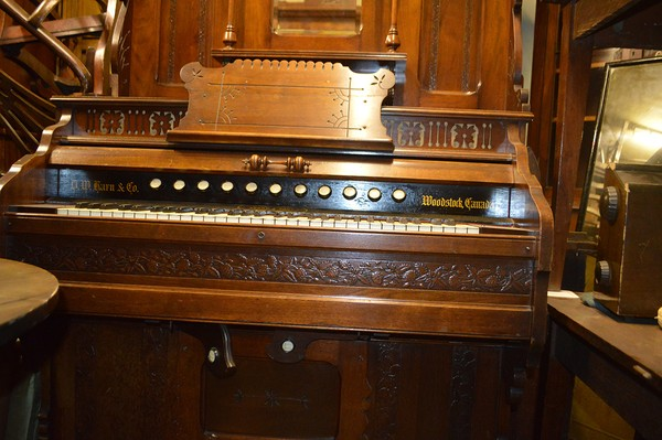 Walnut Church Organ keys
