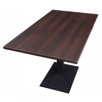 Step Rectangle Cast Iron Complete Table