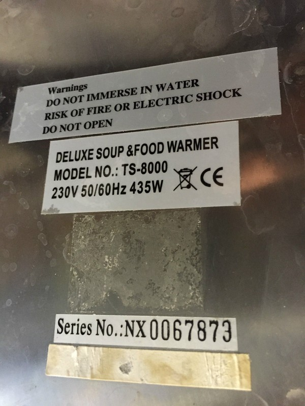 Deluxe TS 800 stainless steel food warmer product info