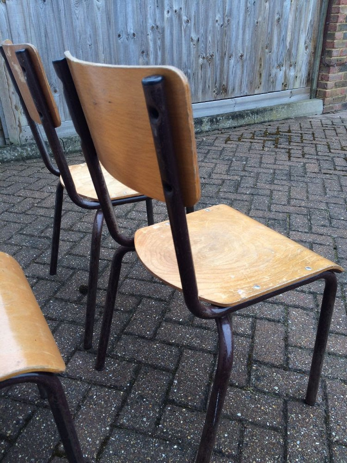 Wood Stacking Tables ~ Secondhand chairs and tables retro vintage or antique