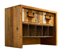 Reclaimed Timber Drawers with Metal Storage
