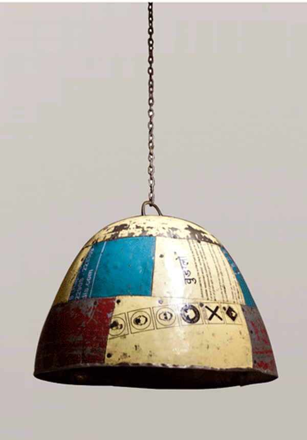 Upcycled Metal Lampshades