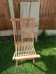 16 Teak Folding Chairs for sale
