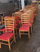 Ladder backed restaurant chairs