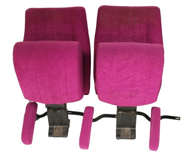 Purple Cinema Seating with Arm-Rest