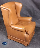 Queen Anne high back winged armchair