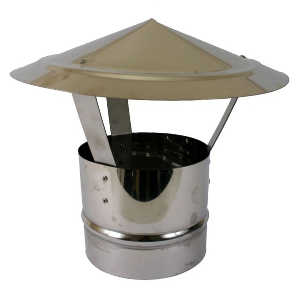 Stainless Steel Flue With Chinaman's Hat