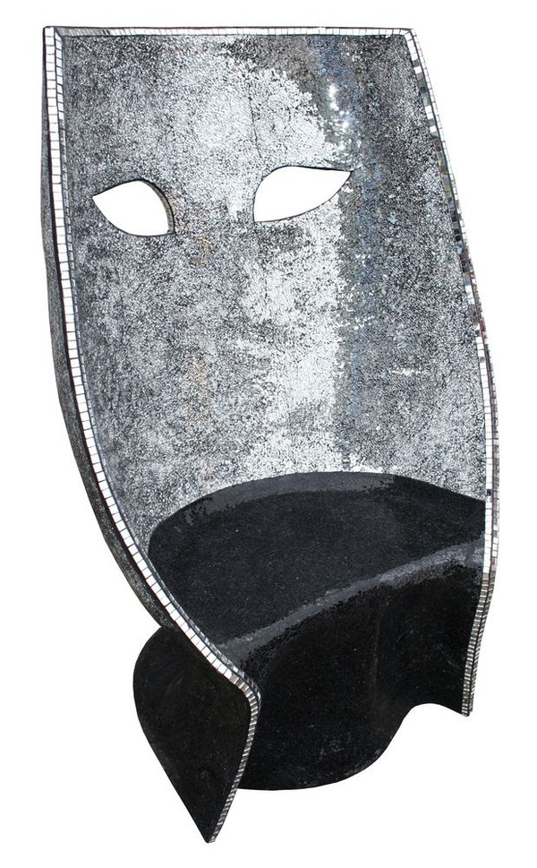 Silver mask chair