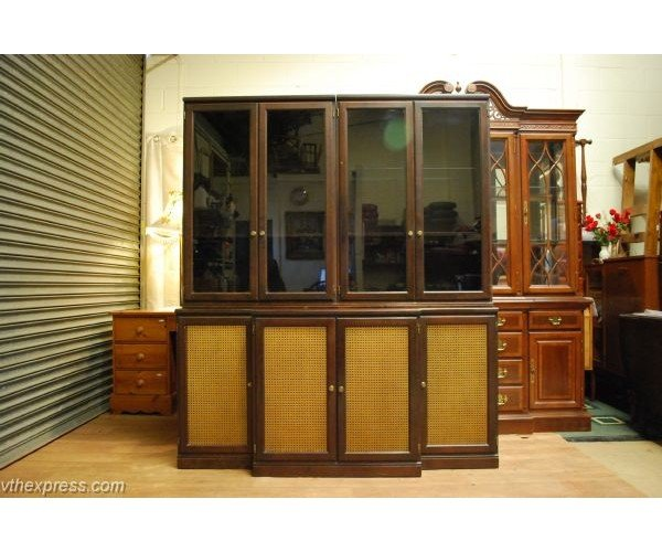 Lovely Vintage Mahogany and Glass Cabinet or Bookcase
