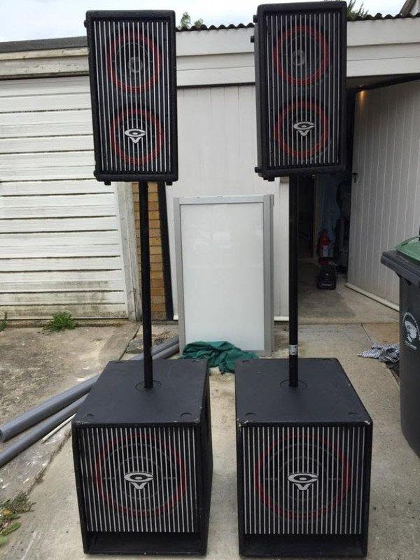 Cerwin Vega active PA Sound System