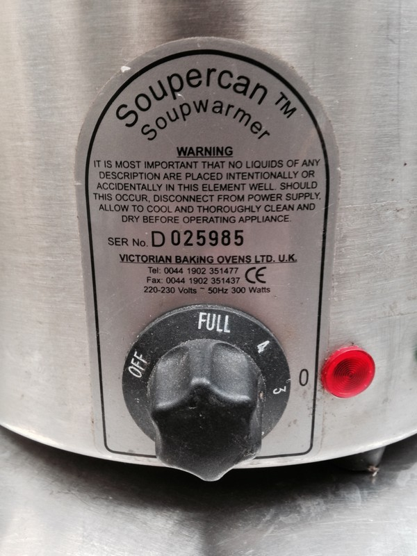 Soupercan Soup Warmer info and temp controls