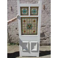 Stunning 5 Panel Stained Glass late Victorian to Edwardian Bespoke Entrance Door