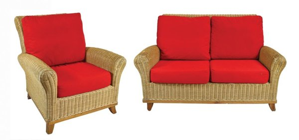 Red Cane Furniture Set