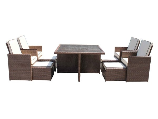 Barcelona 9 Piece Rattan Garden Cube Set   Peterborough  Cambridgeshire. Secondhand Chairs and Tables   Outdoor Furniture