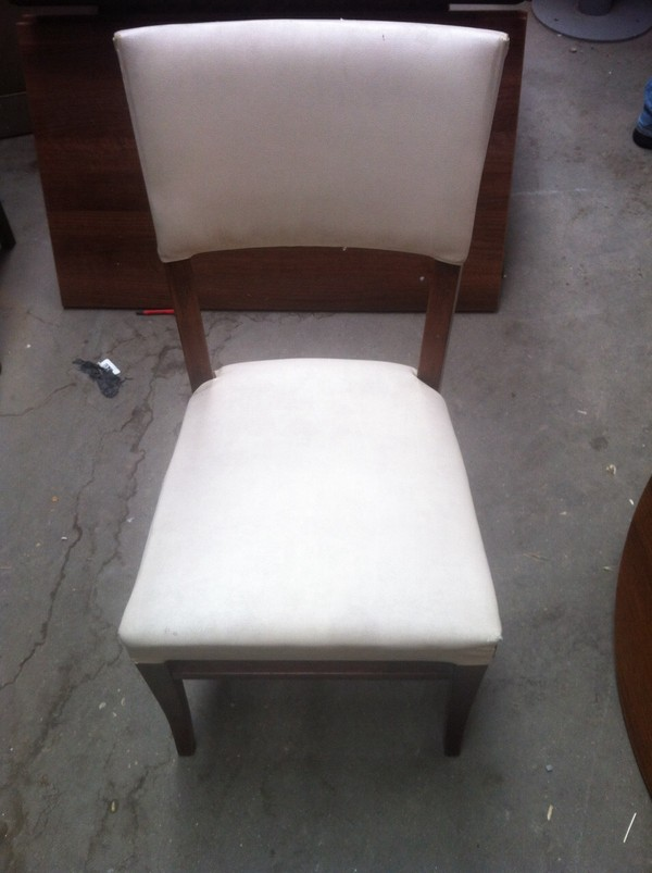 Job Lot of 17 White Chairs
