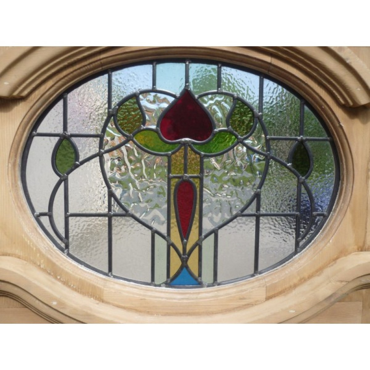 S Edwardian Oval Stained Glass