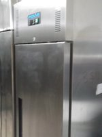 New Stainless  Steel Upright  Freezer )