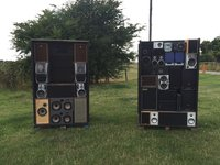 Giant Speaker Stack Boxes