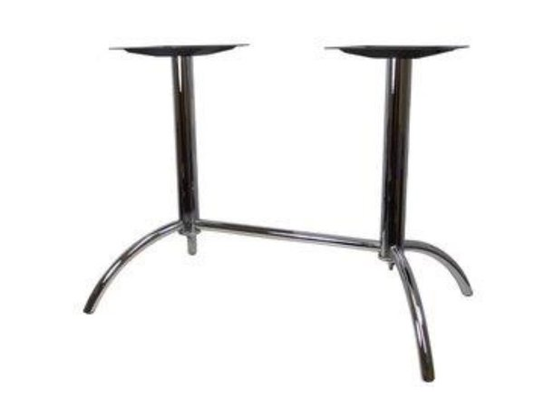 Pedestal table base for rectangular restaurant table