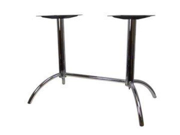 Pedestal table base for rectangular restaurant table
