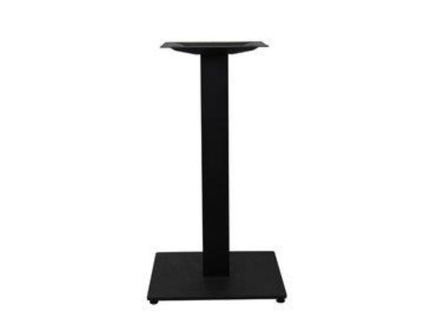 Solid table base for commercial cafe or restaurant