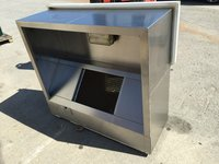 Stainless steel commercial extraction ventilation canopy