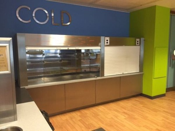 Double Cold display fridge drinks saviories roller shutter for sale