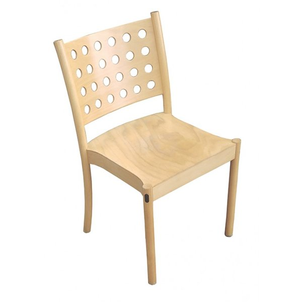 Solid Wood Frame Stacking Chairs