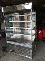 Arneg commercial stainless multideck display fridge with night blind