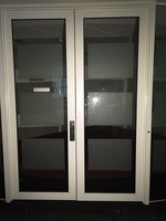 Double powder coated commercial aluminium doors and frame