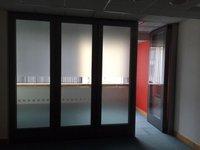 By folding concertina acoustic glass/aluminium movable sliding wall/doors
