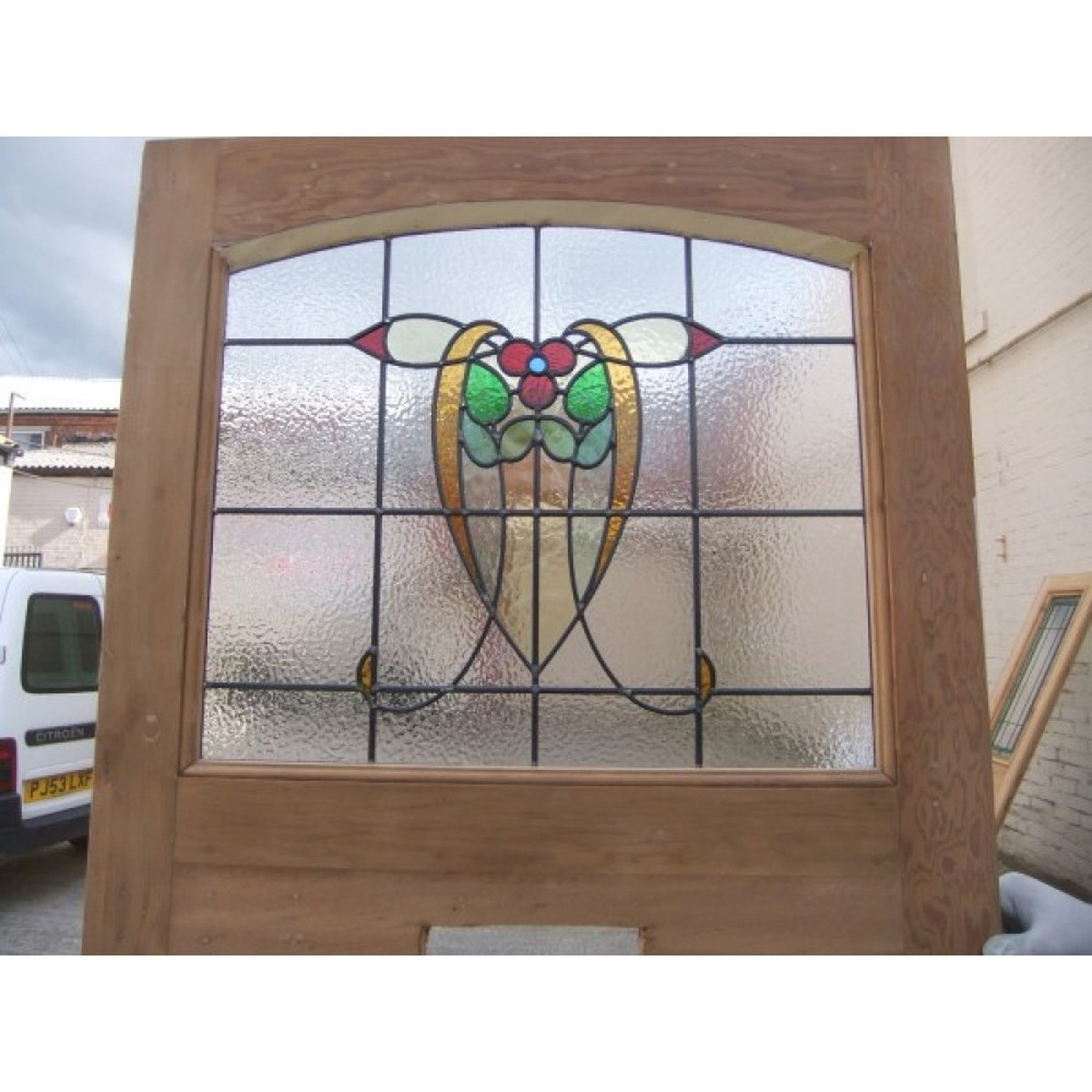 Secondhand Vintage And Reclaimed Doors And Windows 1930 Edwardian Stained Glass Exterior