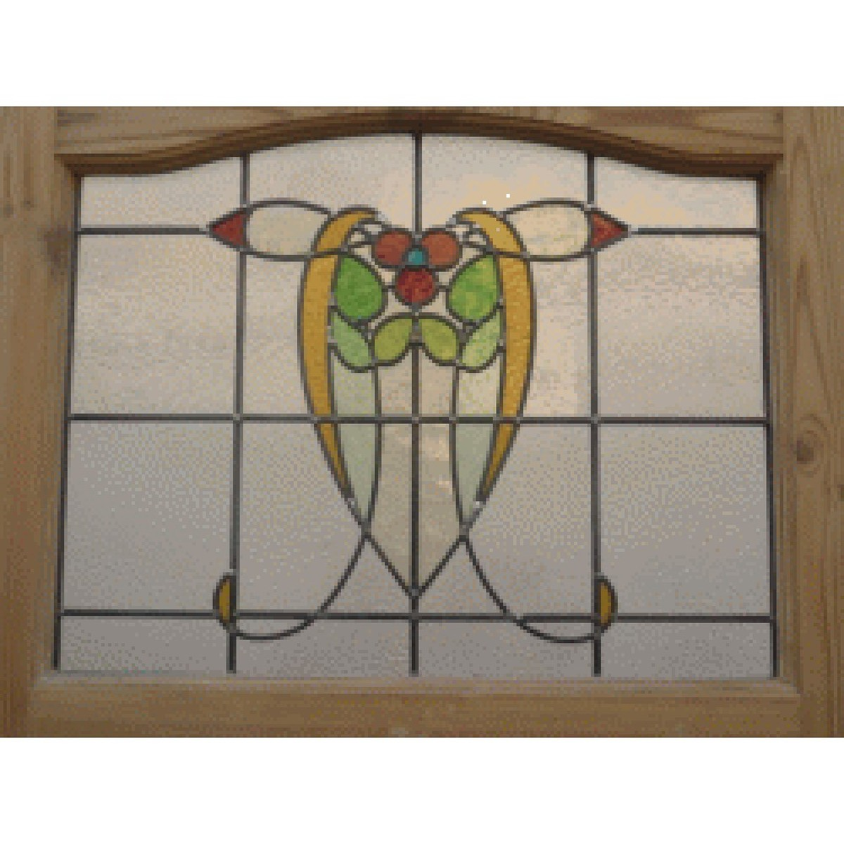 1200 #977634  Doors And Windows 1930 Edwardian Stained Glass Exterior Door wallpaper Stained Glass Front Doors 40151200
